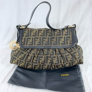 FENDI Zucca Chef Authentic Canvas and Leather